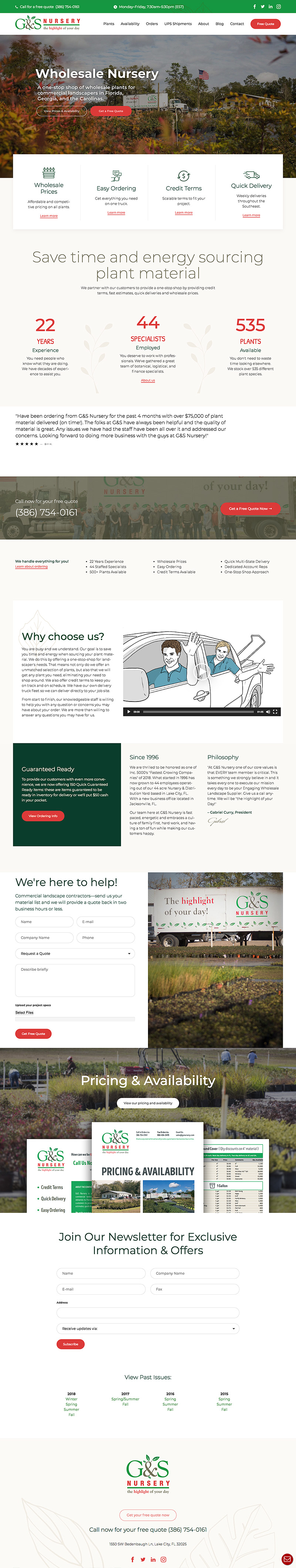 G & S Nursery Website
