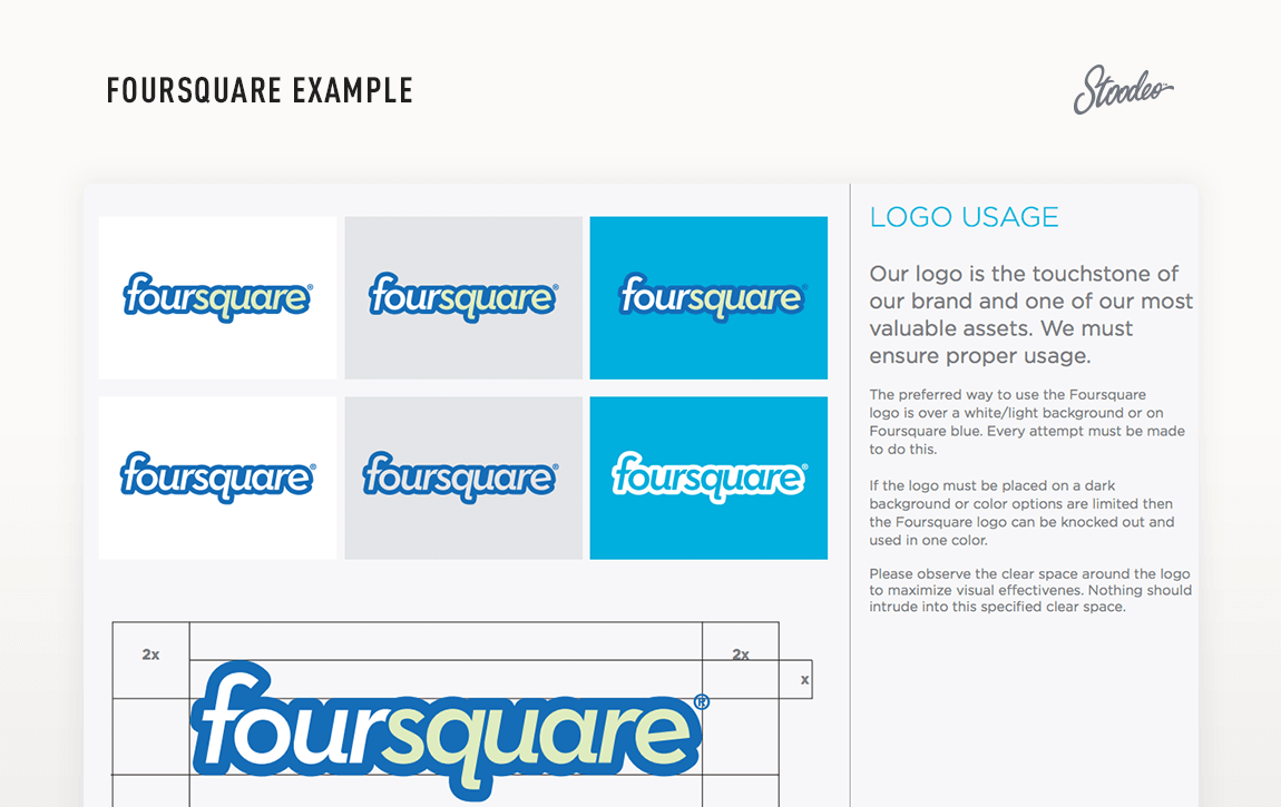 Brand Guideline Style Guide Tyler TX Foursquare