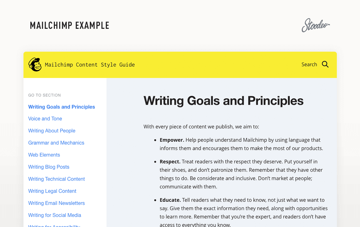 Brand Guideline Style Guide Tyler TX MailChimp
