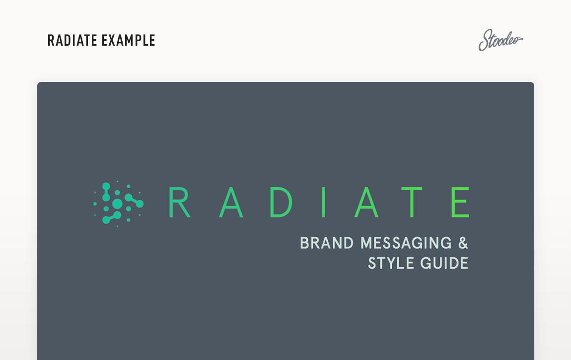 Brand Guideline Style Guide Tyler TX Radiate