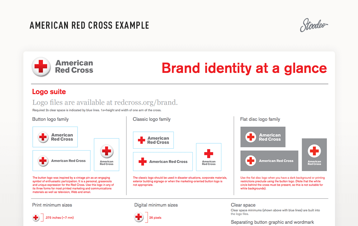 Brand Guideline Style Guide Tyler TX Red Cross