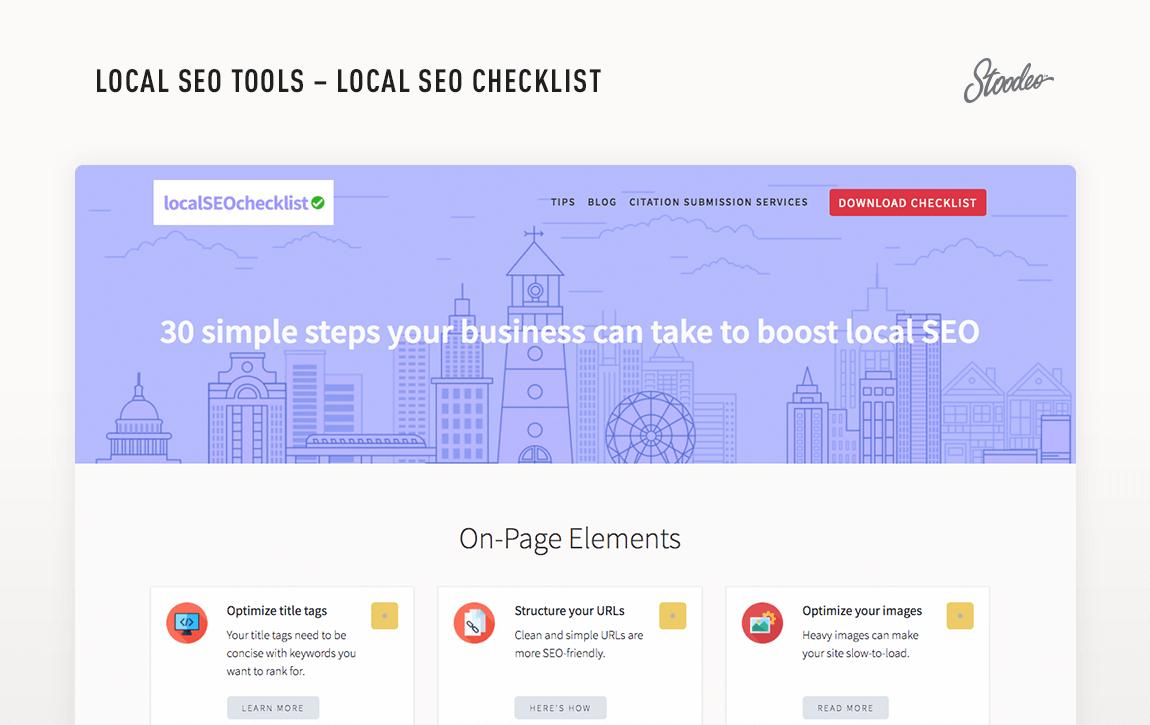 Local SEO Tools Checklist Tyler TX